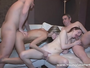 Amateur, Blondes, Blowjob, Brunettes, Doggystyle, Group sex, Hardcore, Kissing, Lesbian, Masturbating, Orgasm, Panties, Pussy, Shaved, Skinny, Small tits, Teens