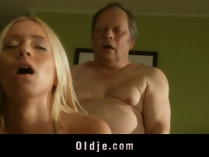 Blondes, Blowjob, Hardcore, Horny, Old man