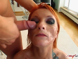 Cumshots, Double anal, Facials, Fishnet, Group sex, Milf, Mmf, Mom, Redheads, Threesome
