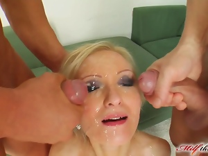 Cumshots, Double anal, Facials, Group sex, Mmf, Mom, Threesome