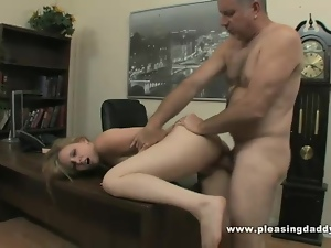 Blowjob, Boss, Cowgirl, Cumshots, Hardcore, Masturbating, Office, Old, Old man