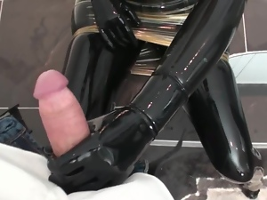 Blowjob, Boots, Cumshots, Fetish, High heels, Latex, Pvc, Rubber
