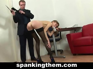 Amateur, Fetish, Humiliation, Punish, Secretary, Skinny, Small tits, Spanking