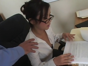 Asian, Desk, Fucking, Hardcore, Secretary