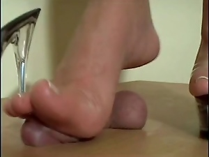 Amateur, Cumshots, Femdom, Foot fetish, Footjob, High heels, Trampling