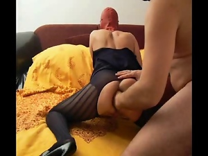 Amateur, Anal, Bdsm, Fisting, Gaping hole, Latex, Mask, Moaning