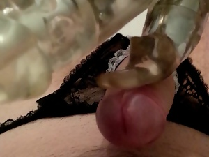 Crotchless panties, Funny, Gay, Handjob, Masturbating, Panties, Sex toys