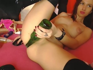 Amateur, Anal, Bottle, Dildo, Masturbating, Sex toys, Webcam