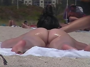 Beach, Beautiful, Nudist, Voyeur