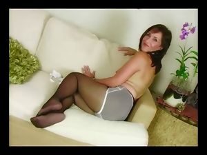 Action, Foot fetish, Mature, Pantyhose, Solo, Stockings