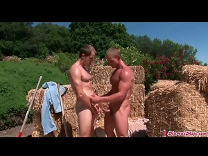 Anal, Blowjob, Dick, Farm, Outdoor, Sucking