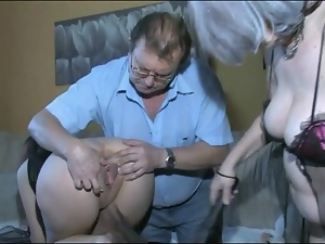 Couple, Leashed, Lingerie, Mature, Old and young, Sexy