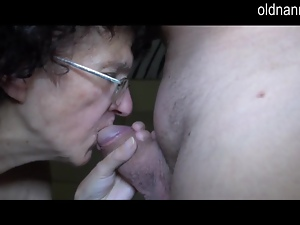 Dick, Fat, Grandma, Granny, Old, Oral, Sucking