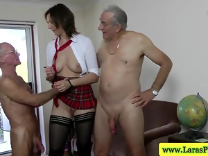 Mature, Mmf, Spanking, Threesome