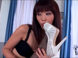 Feet, High heels, Lesbian, Licking, Lingerie, Sexy, Stockings