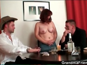 Big tits, Mature, Nude, Poker, Strip, Threesome