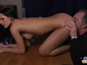 Blowjob, Fucking, Old, Old man, Teens