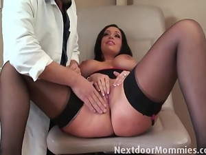 Big tits, Brunettes, Doctor, Licking, Milf, Pussy