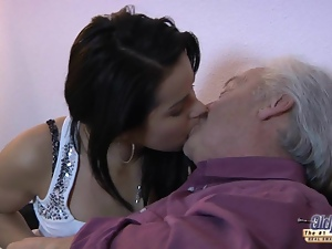Blowjob, Old man, Party