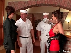Boots, Chick, Group sex, Horny, Pantyhose, Sailor