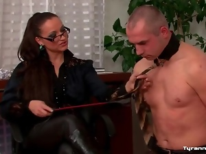 Boss, Collar, Domination, Femdom, Leather, Office