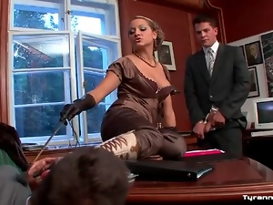 Boots, Domination, Femdom, Office, Ranch, Threesome