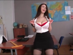 Big tits, Curvy, Milf, Stockings, Strip, Teacher
