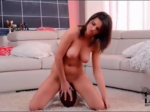 Curvy, Football, Masturbating, Pussy, Shaved