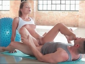Blondes, Dick, On top, Small tits, Sport