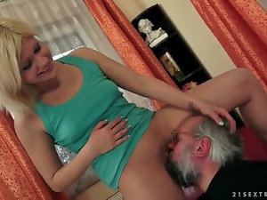 Blowjob, Old, Old and young, Pretty