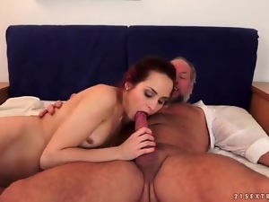 Blowjob, Dick, Masturbating, Old, Old and young, On top, Riding, Slut