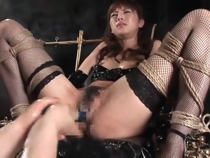 Bondage, Fingering, Japanese, Pussy, Squirting, Wet