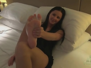 Close up, Feet, Hotel, Masturbating, Panties, Pussy, Tease