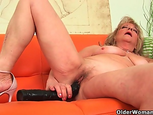 Breast, Dildo, Grandma, Huge, Mature, Solo