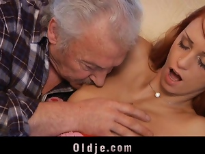 Casting, Old, Old farts, Old man, Pussy, Redheads, Wet