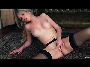 Babes, Garter belts, Masturbating, Panties, Stockings