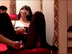Asian, Bondage, Bound, Dildo, Gagged, Lingerie, Vibrator