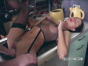 Fisting, Horny, Kitchen, Stockings, Teens, Wife