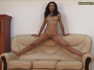 Breast, Brunettes, Flexible, Sexy, Shaved, Small tits