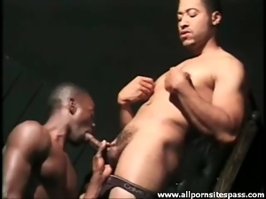 Black, Blowjob, Dick, Ebony, Muscled, Sucking