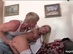 Angry, Blondes, Fingering, Slut, Stockings, Strip