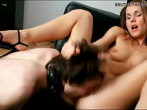 Face, Face sitting, High heels, Pussy, Small tits