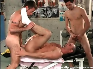 Anal, Gym, Muscled, Threesome
