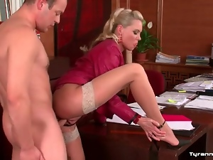 Blondes, Cfnm, Gorgeous, Hardcore, Office, Stockings