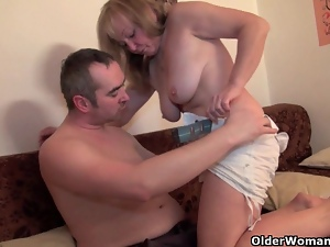 Blowjob, Cunt, Fucking, Grandma, Hairy, Mature, Riding