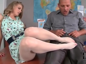 Beautiful, Dress, Foot fetish, Pantyhose, Skinny, White