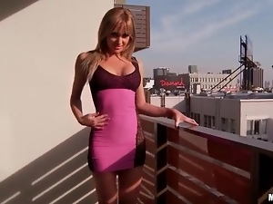 Big tits, Dress, Gorgeous, Model, Outdoor