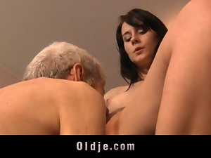 Blowjob, Old, Old man, Teens