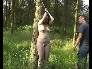 Bdsm, Bondage, Fat, Outdoor, Pain, Tied up