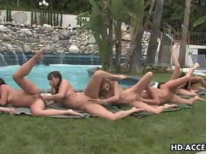 Fingering, Lesbian, Orgy, Outdoor, Pussy